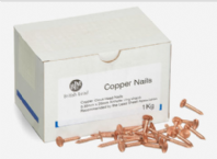 BLM 25mm annular ring shank copper clout nails for lead sheet fixing